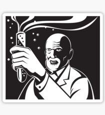 Crazy Mad Scientist Test Tube  Sticker