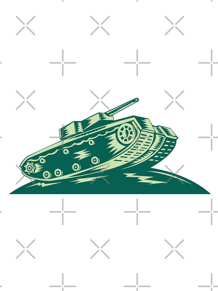 World War Two Battle Tank  by patrimonio