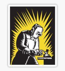 Welder Metal Worker Welding Retro   Sticker
