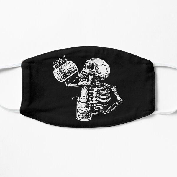 Drunk skull Flat Mask