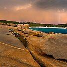 Storm over Salmon Beach - Esperance by John Pitman