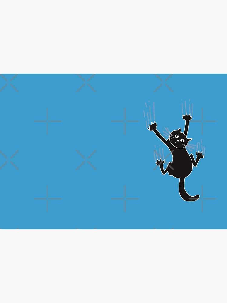 Black Cat Holding On by Noureddinebdr