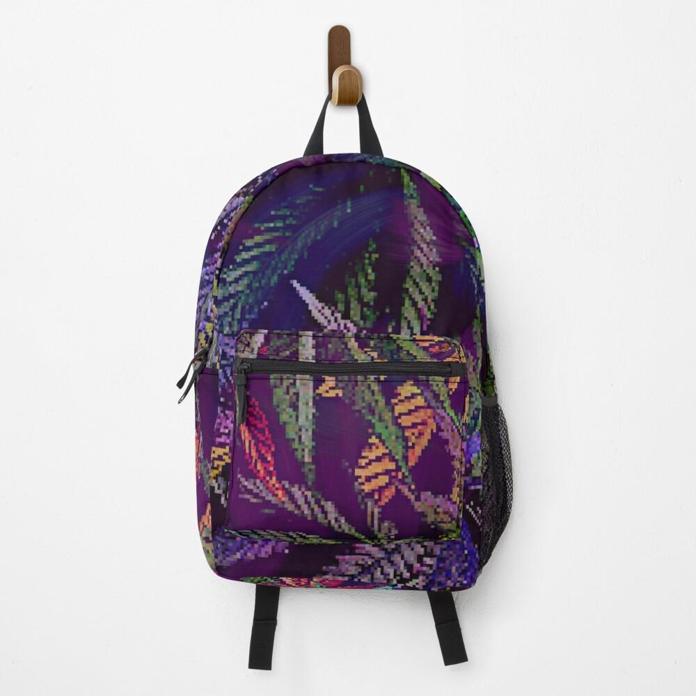 Psychedelic Marijuana Cannabis Leaves Backpack