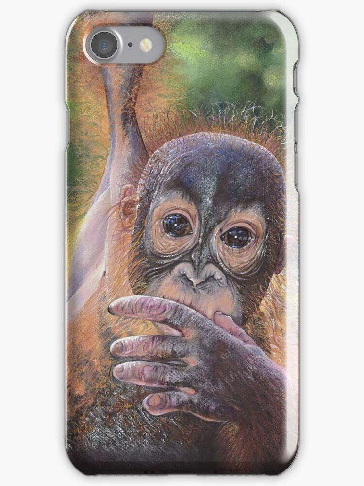 No Tree, No Me (Baby orangutan) by Geraldinesart