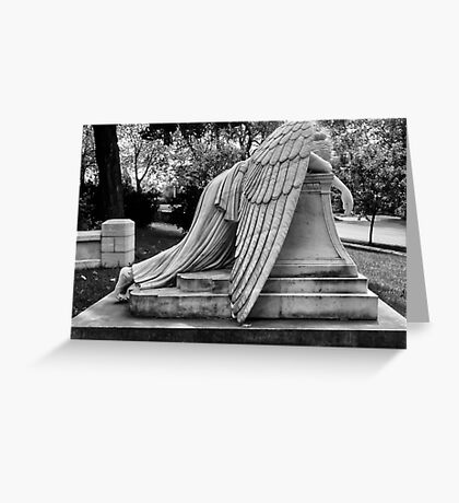 Even Angels Weep Greeting Card