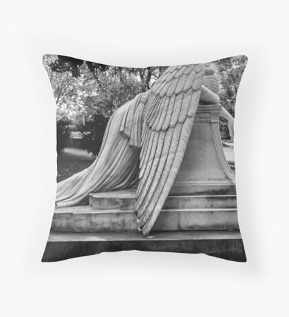Even Angels Weep Throw Pillow