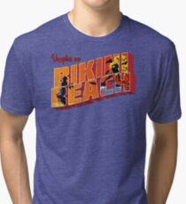Vampires On Bikini Beach Tri-blend T-Shirt