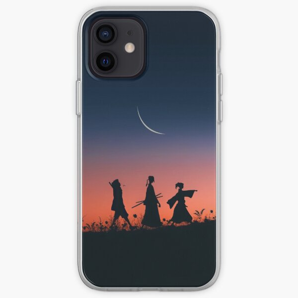 jin y fuu sombra silueta mañana caminar Funda blanda para iPhone