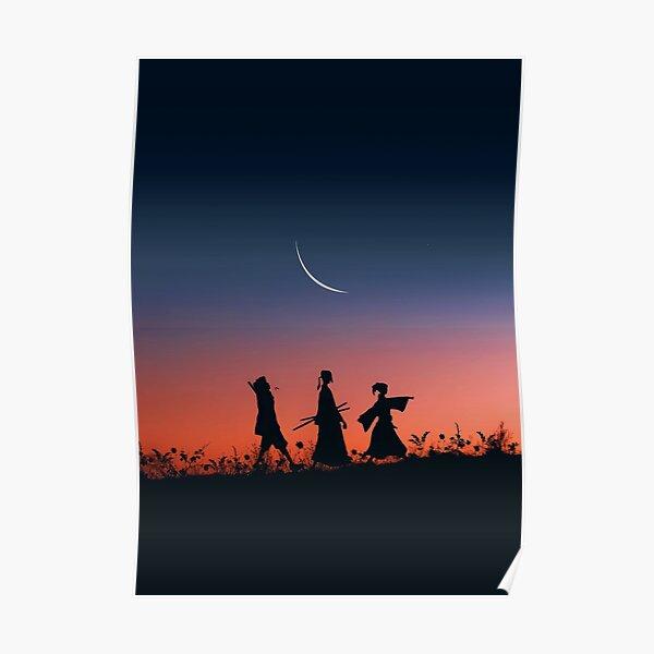 jin et fuu ombre silhouette matin promenade Poster