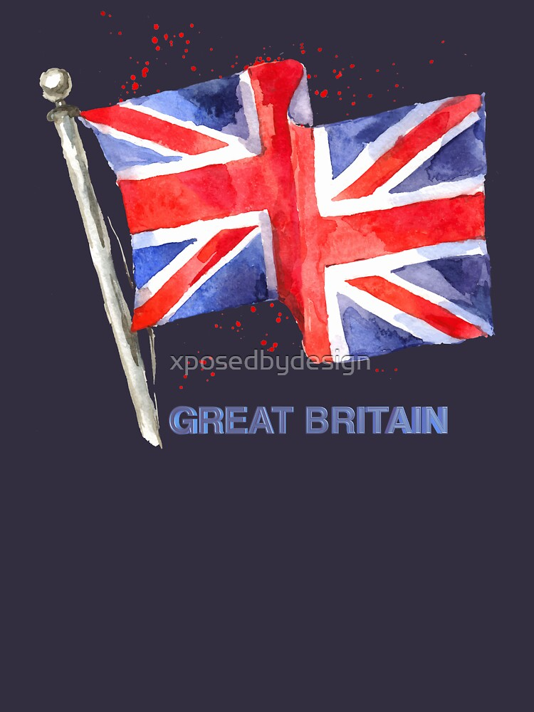 WATERCOLOR FLAG OF Great Britain by xposedbydesign