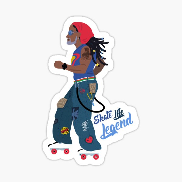 Skate Life Legend Glossy Sticker