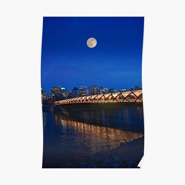 Peace Bridge, Calgary, Alberta, Canada Poster