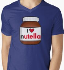 I <3 Nutella Men's V-Neck T-Shirt