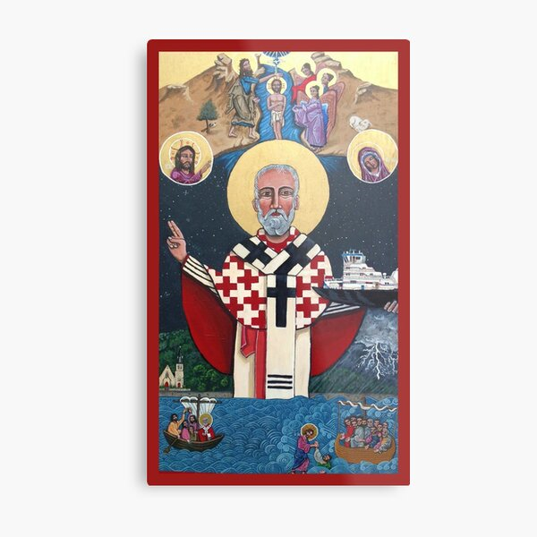 St. Nicholas: Parton of Mariners  Metal Print