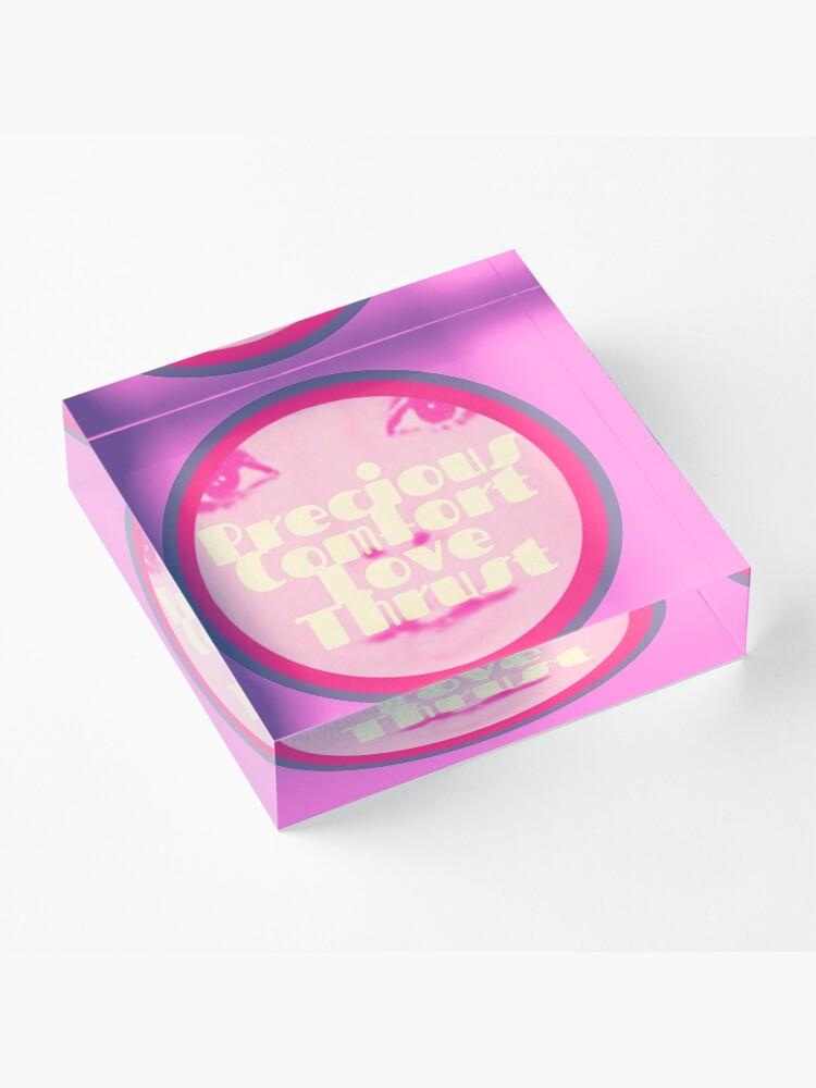 Alternate view of Precious Comfort Love Thrust Logo Acrylic Block