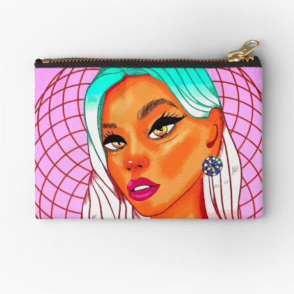 GLOBAL EYES WITH A PRETTY SMILE Zipper Pouch