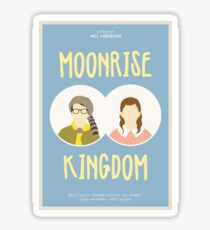 Moonrise Kingdom film poster Sticker
