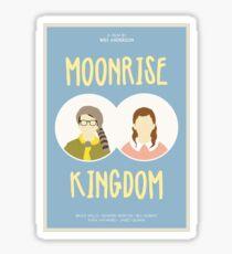 Moonrise Kingdom film poster Sticker