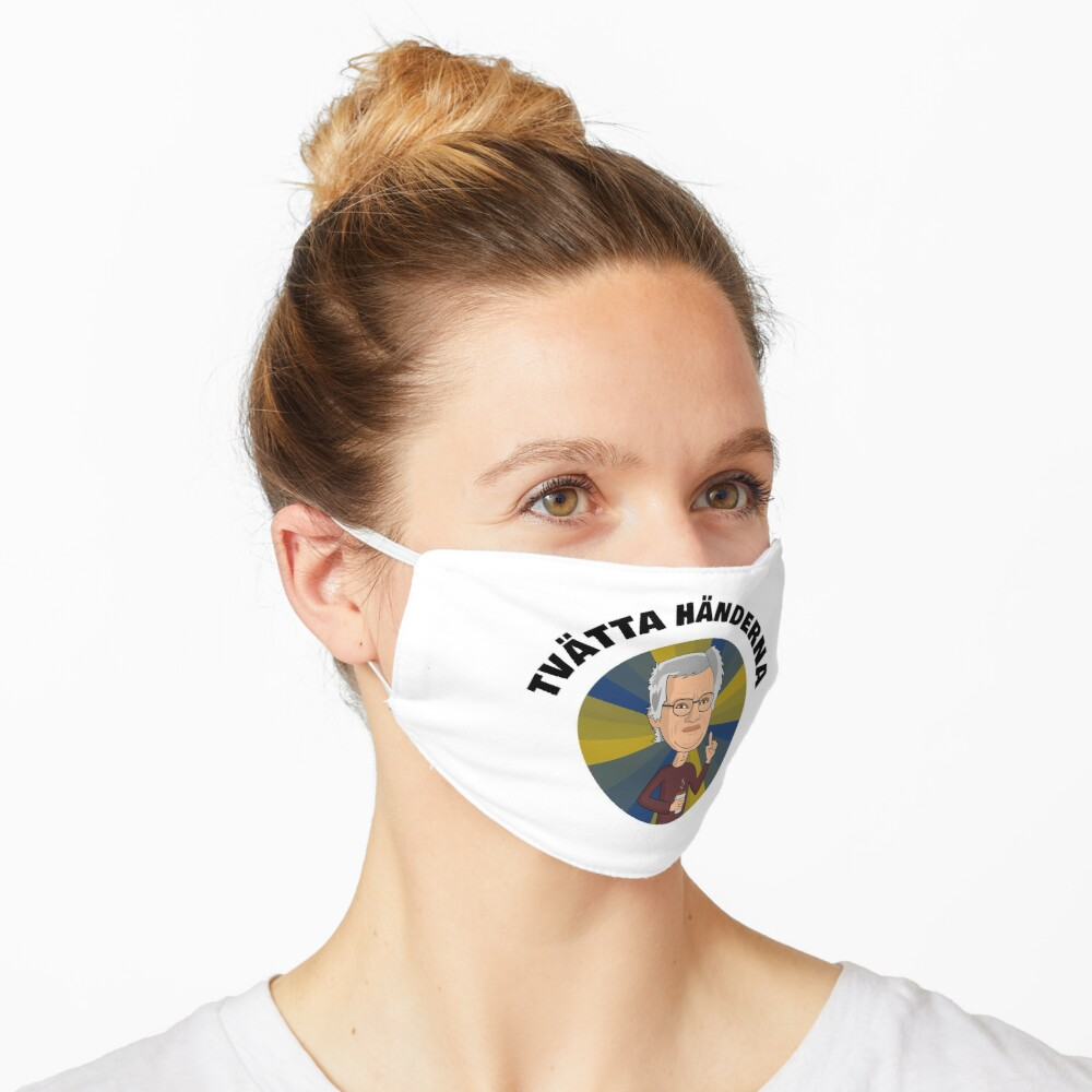 Anders Tegnell Tvatta Handerna Mask By Yumania Redbubble