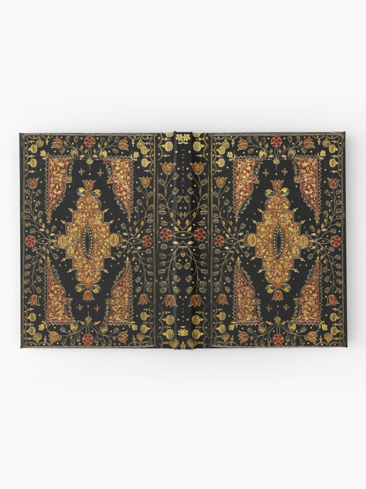Alternate view of Black and Gold Floral Book Hardcover Journal