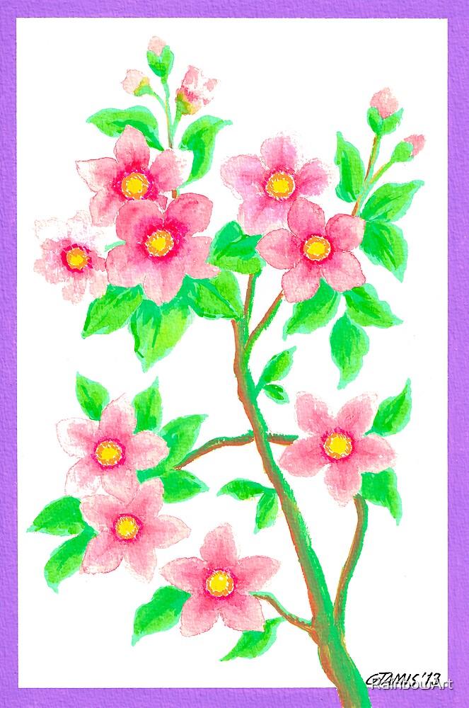 FLOWERING SHRUB by RainbowArt