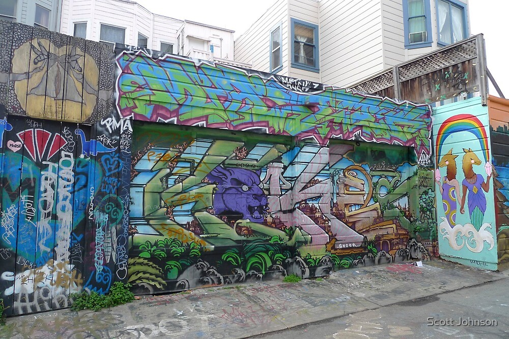 Clarion Alley, San Francisco (2) by Scott Johnson