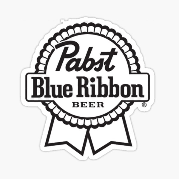 Craft Brewing Logo Brewery Decal~ Pabst Blue Ribbon Beer Die Cut Sticker ~NEW