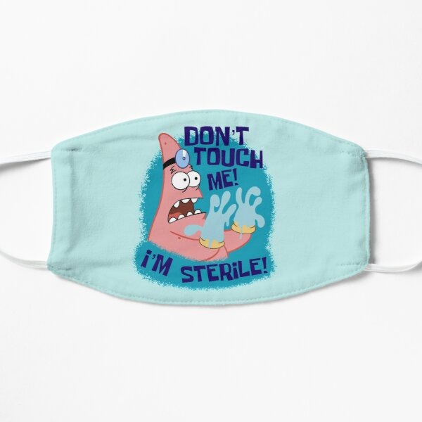 Don't Touch Patrick Star Flat Mask
