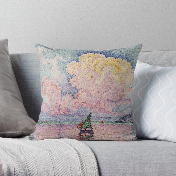 Paul Signac - Pink Clouds, Antibes Throw Pillow