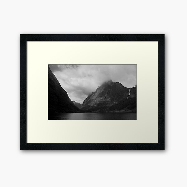 Fjord scene, Norway Framed Art Print