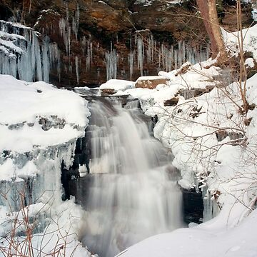 Icy Top of Huron Falls by ProfAudio