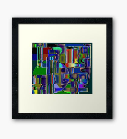 Colors of Time Framed Print