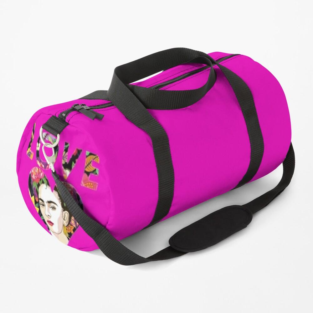 LOVE- Frida Kahlo Version Duffle Bag