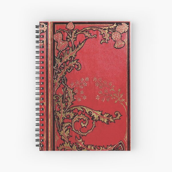 Red and Gold Thistles Spiral Notebook
