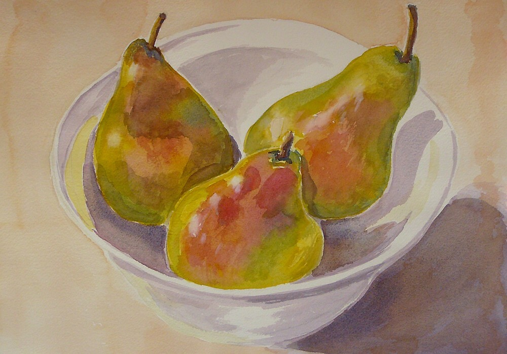 Three pears by Virginia  Coghill