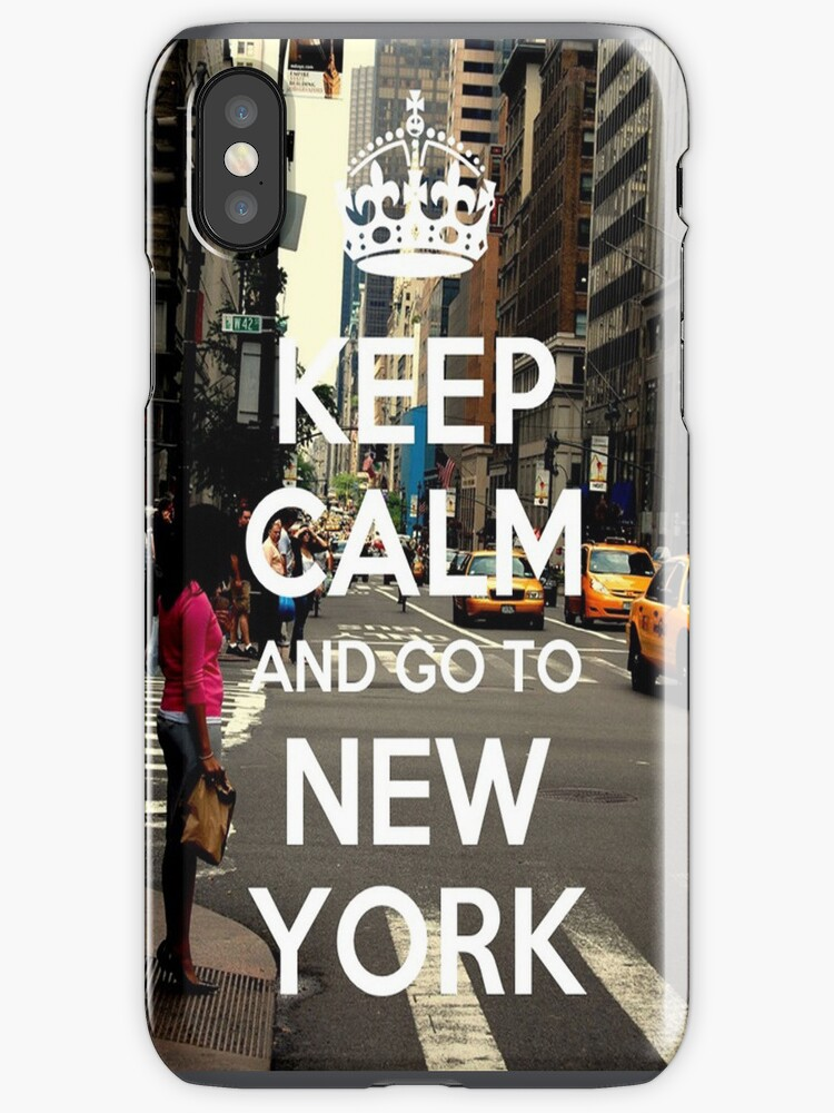 Keep Calm and Go to New York - Iphone Case  by sullat04