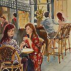 Coffee break in Block Place by Virginia  Coghill