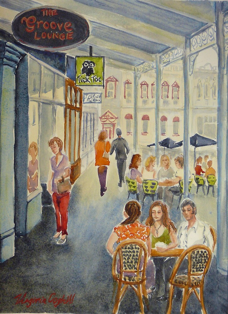 The Groove Lounge, Williamstown by Virginia  Coghill
