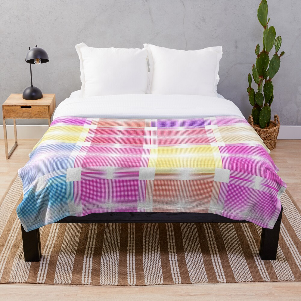 Chic and Pretty Pastel Patchwork Fabric Throw Blanket