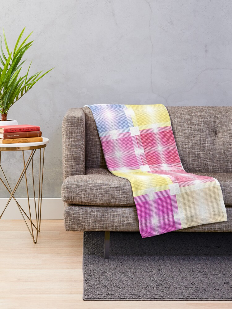 Alternate view of Chic and Pretty Pastel Patchwork Fabric Throw Blanket