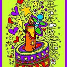 Birthday Blessings (on green) by Sammy Nuttall