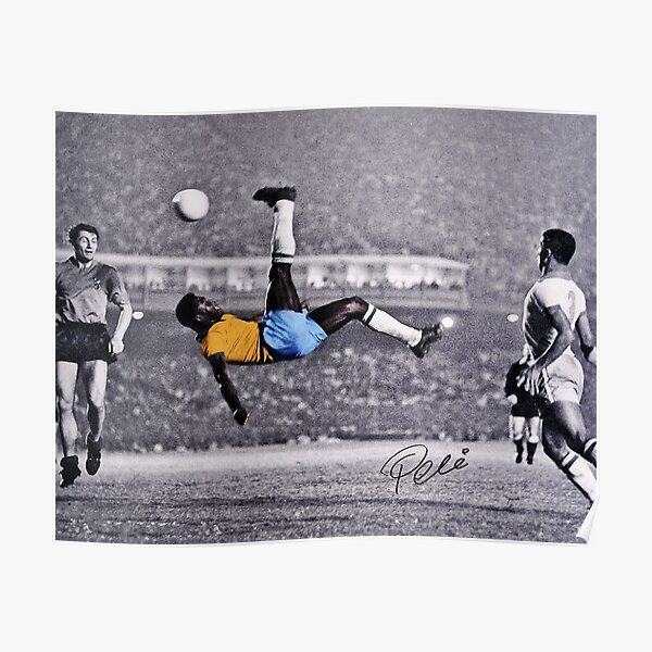 Pele Iconic Bicycle Kick (1968) Poster