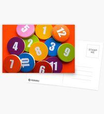 Color of number or number of color Postcards