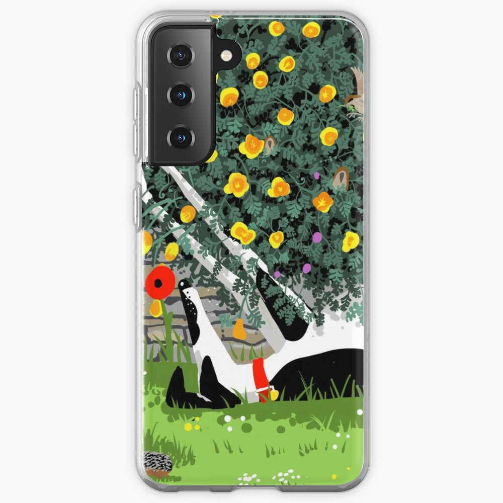 The Cowhound and the Yellow Flowers Case & Skin for Samsung Galaxy