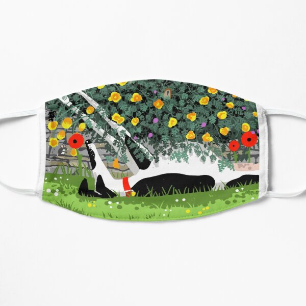 The Cowhound and the Yellow Flowers Flat Mask