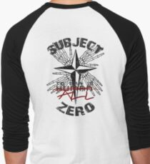 Subject Zero- To Err is All Men's Baseball ¾ T-Shirt