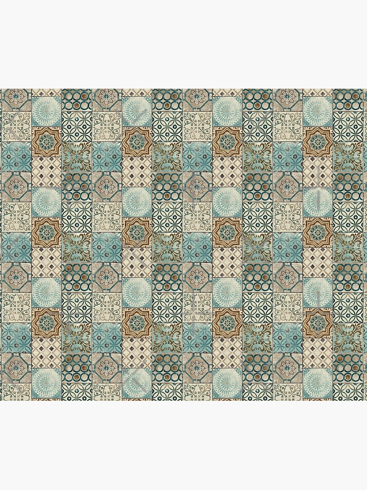 Vintage Oriental Traditional Moroccan Tiles Style Artwork  by Arteresting