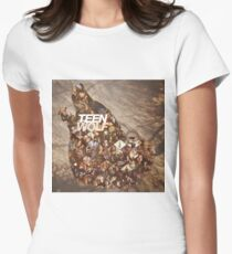 Teen wolf forest Women's Fitted T-Shirt