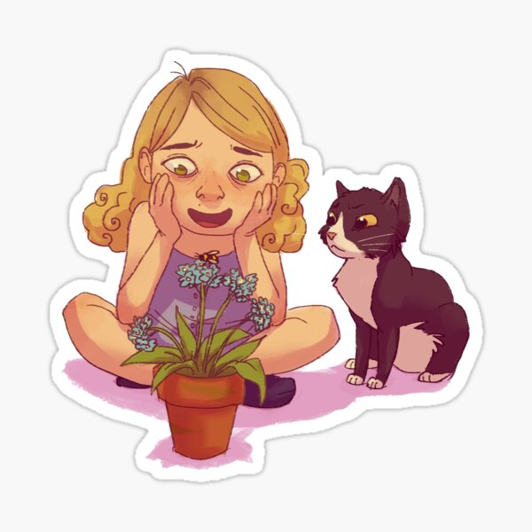 Kitty and Bee Sticker