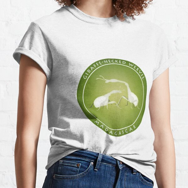 Giraffe-necked weevil Madagascar wildlife Classic T-Shirt